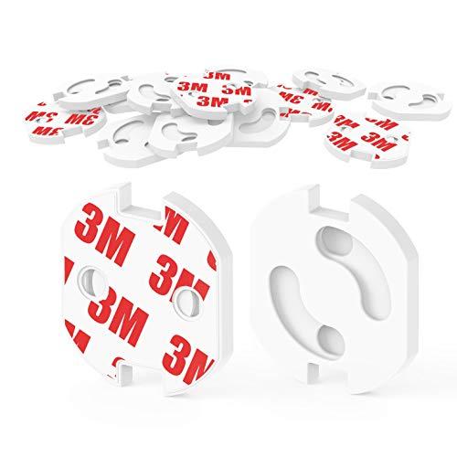 [20 Stück] Kindersicherung für Steckdose mit Drehmechanik,Canwn Steckdosensicherung für Baby und Kinder Kindersicherheit Steckdosenschutz, weiß