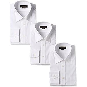 [スティングロード] 長袖 3枚セット レギュラーカラー 白ワイシャツ 形態安定 ノーアイロン 綿高率混 レギュラーフィット MA1112-AM-3 メンズ ホワイト 首回り41cm裄丈78cm