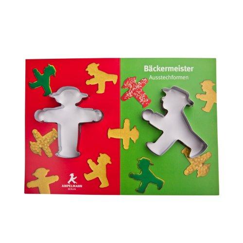 AMPELMANN 103210001 - Keksausstecher 2er-Set Bäckermeister
