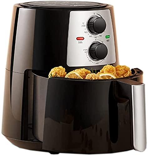 Horno eléctrico,Horno Sobremesa Fryers Hogar Aire de gran capacidad Aire sin aceite y aire libre de humo Totalmente completamente automático Horno de pollo frito Horno 4,2 litros adecuados for la coci