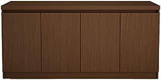 Manhattan Comfort Viennese Buffet/Sideboard Table in Nut Brown
