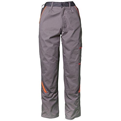 Planam 2420118dimensioni 118'Visline Pantaloni, zinco/arancio/ardesia