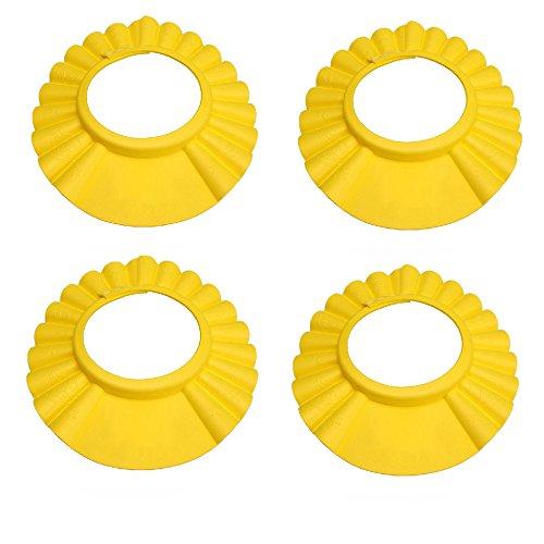 Miracle4ever 4 pièces Shampooing/Cheveux Ensemble de bouchon de lavage pour Kid/bébé (4 Pcs-yellow)