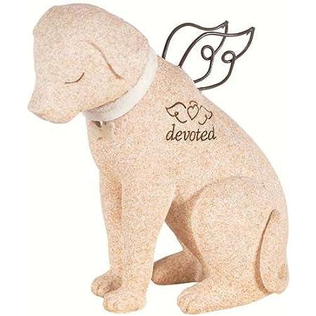 ペット メモリアル グッズ 心を癒してくれる犬 お墓 墓石 devoted 置き物 人形 [並行輸入品]
