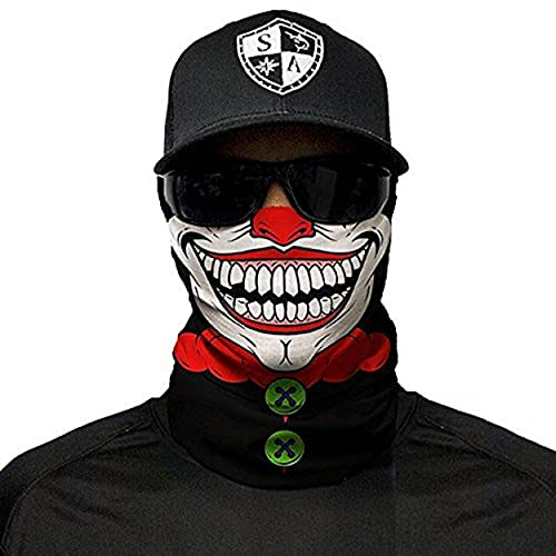 SA Fishing Face Shields ** 40+ Designs verfügbar ** Qualitäts Bandana/Multifunktionstuch/Schlauchtuch/Halstuch aus Stoff & SPF 40 - Face Masks von SA Company, SA Clown