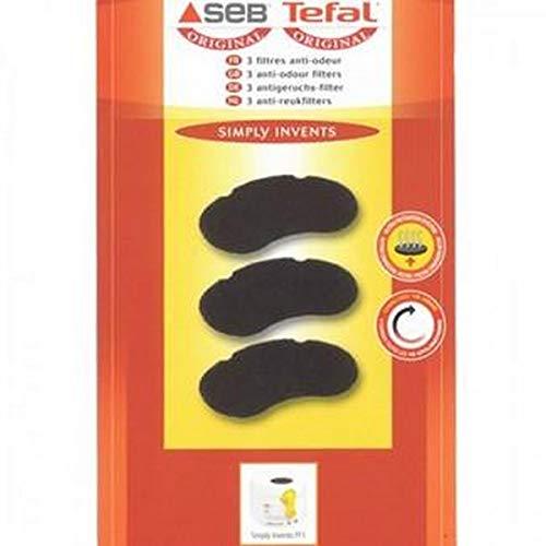Seb XA500025 3 Filtres Anti-Odeur Anti-Graisse Friteuse Simply Invents FF1