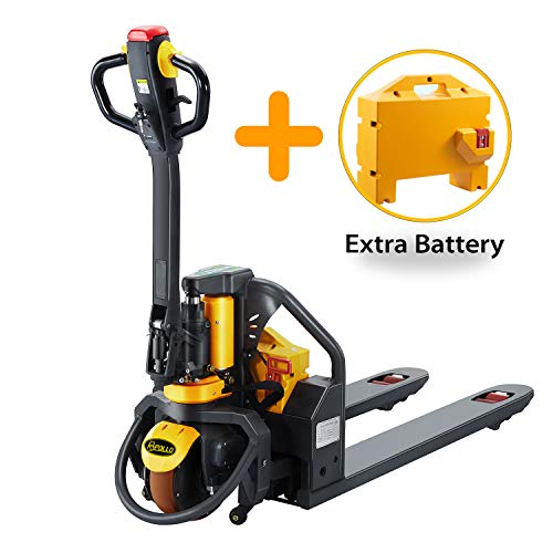ApolloLift Full Electric Power Lithium Pallet Jack Truck Efficiency Bundle 3300lb Cap. 48