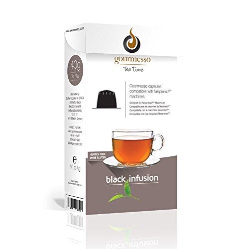 Gourmesso Black Infusion – 50 Nespresso kompatible Teekapseln