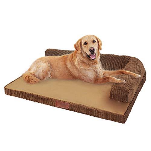 Gatto nido pet bed-Kennel cane rimovibile e lavabile materasso grande materasso nido per cani piccolo medio e grande cane autunno e inverno divano per animali marrone XL120 * 90 cm, Black Friday, migl
