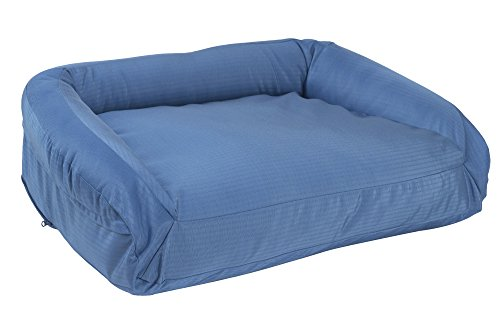 """K9 Ballistics Tough Bolster Nesting Small Dog Bed - Washable, Durable and Waterproof Dog Beds - Made for Small Dogs, 18""""x24"""", Blue"""
