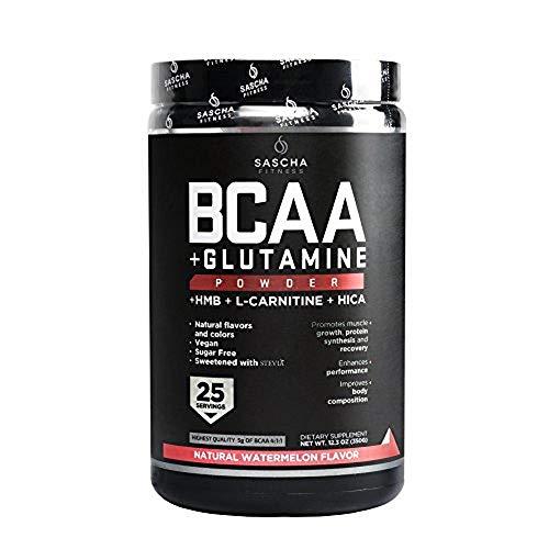 Sascha Fitness Suplemento Alimenticio BCAA Sandia, 350 g