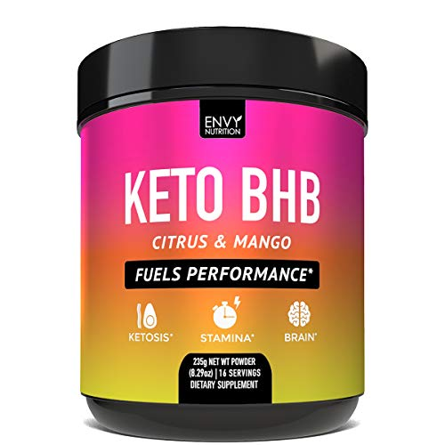 Keto BHB Citrus and Mango Powder - Fuels Performance -Exogenous Ketones (BHB) - Supports Ketosis, Metabolism, Improved Energy, and Mental Health - 16 Servings