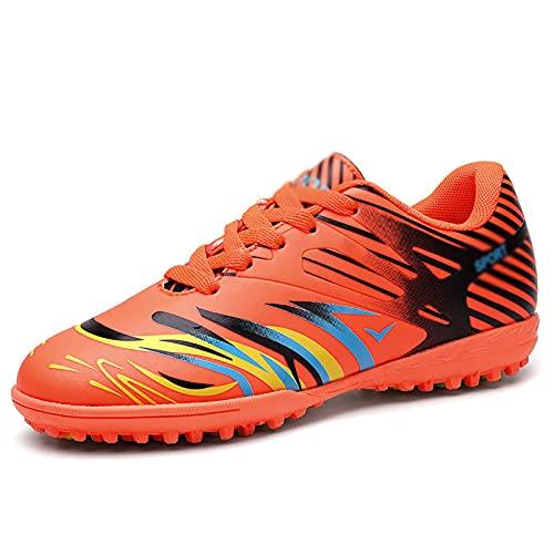 ZGRNB Zapatos de fútbol para Hombre, Zapatos Deportivos de Interior Ding Rotos, Zapatos de Entrenamiento de Moda Transpirables de césped Artificial para Exteriores 32-44
