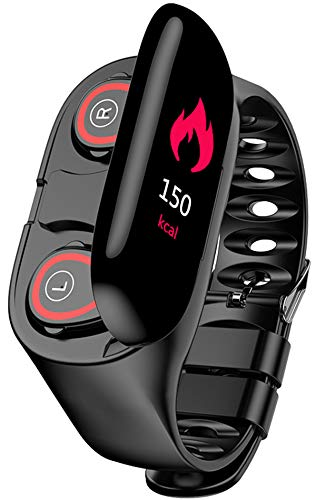 Sportuhr Bluetooth Kopfhörer Armband Smartwatch Fitness Uhr Herzfrequenz Blutdruck Schrittzähler Bluetooth Wristband iOS Android