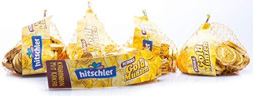 1,20 kg Hitschler Goldmünzen Goldtaler Kaubonbon Piratengold Karneval Hochzeit Feste Umzüge