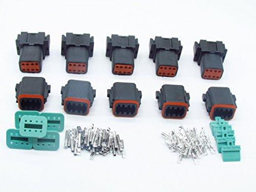 CNKF 5/Set Sumitomo HV//Hvg sigillato Series 2/Pin Nero connettori Maschio Femmina Impermeabile