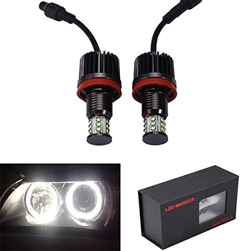 GFJMC 63217760782 Cree LED Angel Eyes Halo Light Bulb H8 180W CREE LED Marker Halo Light 6000K Xenon White for BMW E60 E61 E90 E92 E70 E71 E82 E89 1 3 5 7 Series X5 X6 Z4