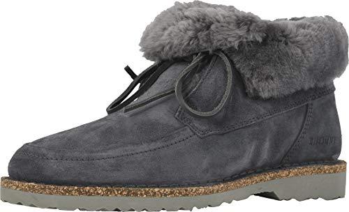Birkenstock Women's Bakki Boot Graphite-Graphite Suede/Shearling Size 36 Regular EU