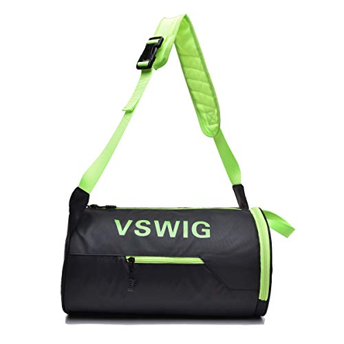 Lightweight Durable Fitness Sports Gym Bag with Shoes Compartment, Waterproof Travel Duffel Bag and Overnight Travel Bag for Men and Women