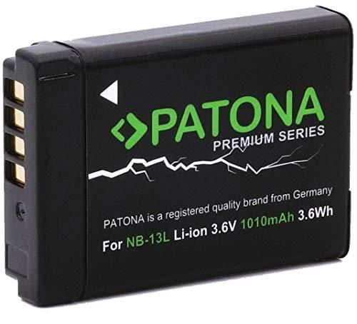 Paton Premium Batterie Canon NB-13L Canon POWERSHOT G7X G5X G9X G7X Mark II