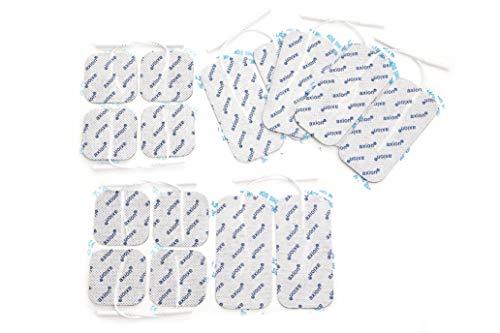 16 x Elektroden Pads, 8*10x5cm + 8*5x5cm. Selbstklebend, für TENS-Gerät Reizstromgerät mit 2mm-Anschluss