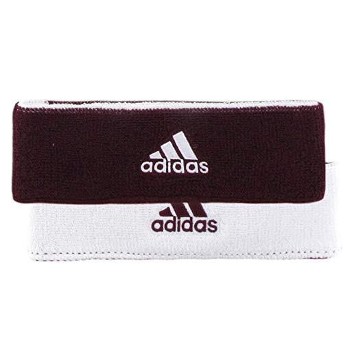 [アディダス] ヘッドバンド スポーツ ヘアバンド インターバル リバーシブル adidas Interval Reversible Headband One Size Maroon/White [並行輸入品]
