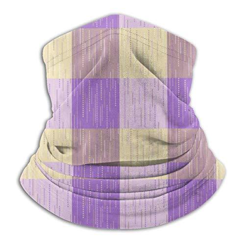 AOOEDM Cuadros de tartán a cuadros o polaina de cuello a rayas Calentador de tubo de esquí de invierno Bufanda de lana Cubierta facial Pañuelos faciales a prueba de viento para exteriores, deportes