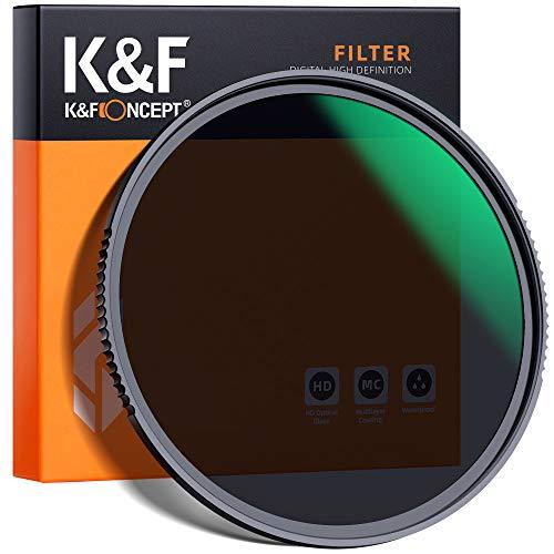 K&F Concept Nano-X Graufilter ND8 (3 Stop) 82mm ND Filter(0,9) aus optisches Glas mit 20-lagiger Nano-Beschichtung