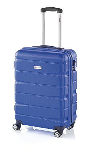 Double2 maleta JohnTravel 70 cm, cuatro ruedas dobles, ABS (Azul)