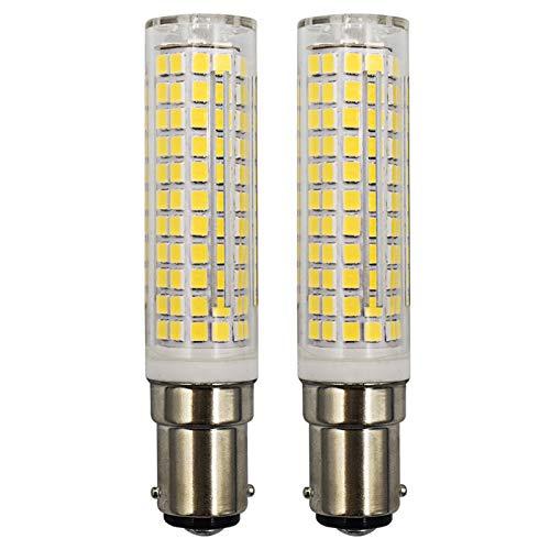 Lampadina a LED B15D, Dimmerabile, Luce Bianca Fredda, 6000K, Sostituisce Lampadina Alogena B15D 60W 75W 100W, 220V-240V, per Macchine da Cucire, 2 Pezzi