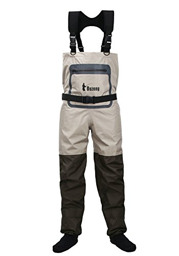 Ouzong Durable and Comfortble Breathable Stocking Foot Chest Wader for Men and Women (Small)