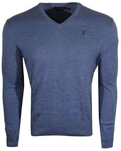 Mens Long Sleeve V Neck Sweater