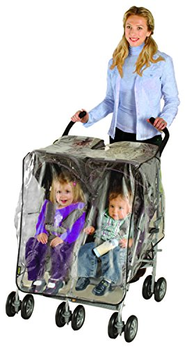 Price comparison product image Nuby Universal Size Twin Stroller Rain Cover
