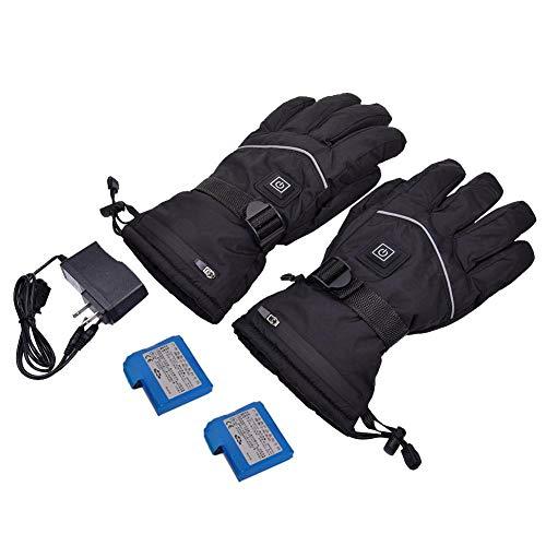 Beheizte Handschuhe Für Männer Und Frauen, Winterhandschuhe Batterie Beheizt Waterproof Arthritis Handschuhe 7.4V Wiederaufladbare Batterien Handschuhe, Funktioniert Bis Zu5-6 Stunden For Night Riding