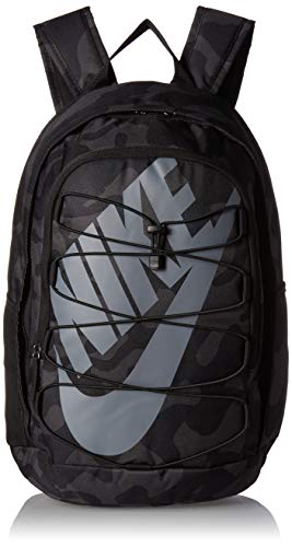 NIKE Hayward Backpack 2.0 All Over Print Camo, Black/Black/Cool Grey, Misc