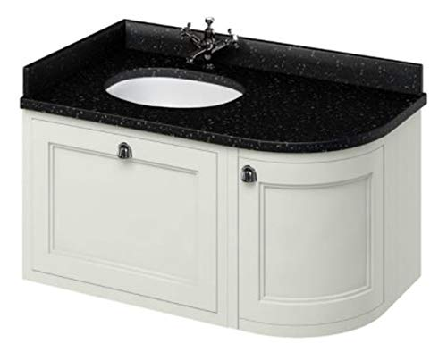 Casa Padrino Hänge-Waschschrank/Waschtisch mit Granitplatte Schublade und Tür 98 x 55 x H. 59 cm, Farbe Badmöbel:Sand