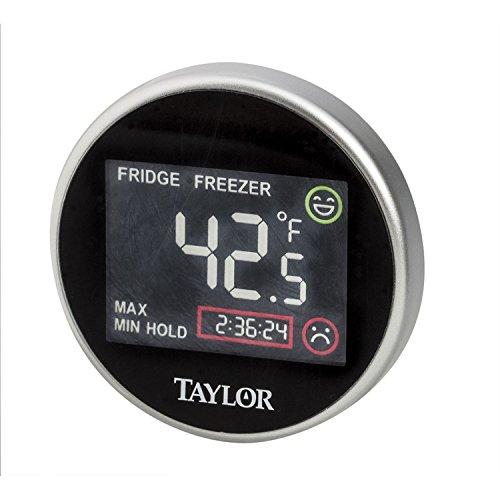 Taylor - Termómetro digital para nevera y congelador con monitor de tiempo (negro)