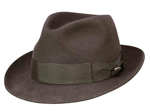 Mayser Homme Chapeau Fedora City marron
