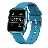 LTLGHY Montre Connectée, Smartwatch Vibrante pour Appel SMS Message Montre Intelligente Cardio Etanche IP67 Trackers D'activité Podometre Calories Sommeil Chronometre,Bleu