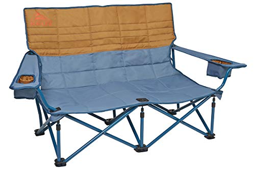 Kelty Low-Love Seat Camping Chair, Tapestry/Canyon Brown – Portable, Folding Chair for Festivals, Camping and Beach Days - Updated 2019 Model