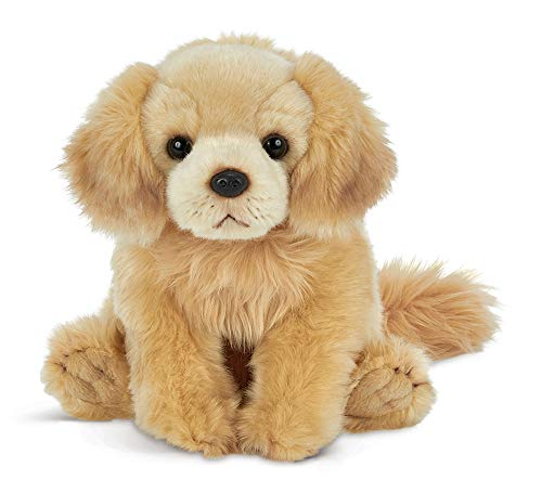 Bearington Goldie Plush Golden Retriever Stuffed Animal Puppy Dog, 13 inches