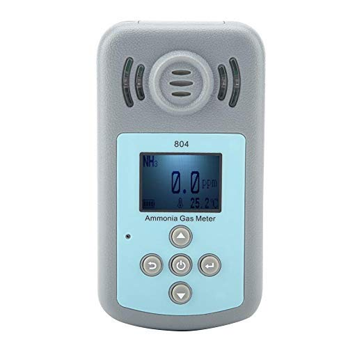 Detector portátil de gas de amoníaco, detector digital de fugas de gas de amoniaco 804 para seguridad personal, educación y vigilancia del medio ambiente con un rango de -15 a 50 °C