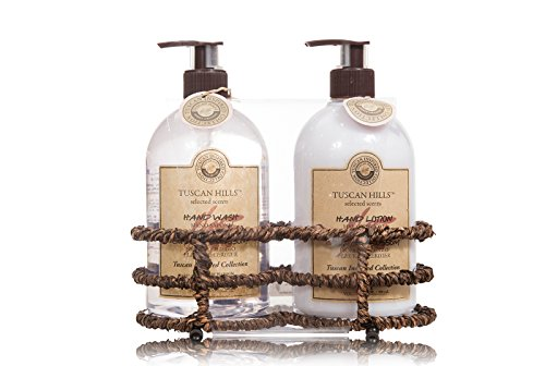 Tuscan Hills Cherry Blossom Hand Wash and Lotion Set With Caddy