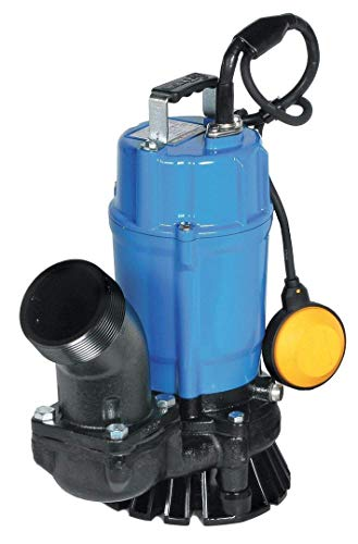 "Tsurumi HSZ3.75S; Float Operated semi-Vortex Submersible Trash Pump w/Agitator, 1hp, 115V, 3"" Discharge"