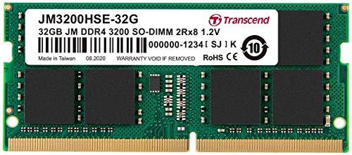 Transcend ノートPC用メモリ PC4-25600(DDR4-3200) 32GB 1.2V 260pin SO-DIMM 2Rx8 (2Gx8) CL22 無期限保証...