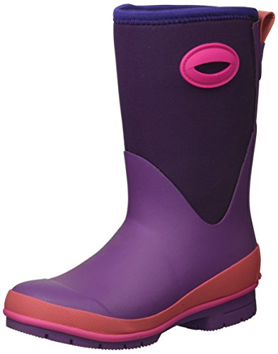 Western Chief Kid's Cold Rated Neoprene Memory Foam Snow Boot, Purple, 5 M US Big Kid