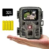 SUNTEK 防犯カメラ トレイルカメラ 小型 屋外 監視カメラ 電池式 暗視カメラ 1080PHDビデオ品質および1600万画素 動体検知カメラ迅速なトリガー時間人感センサー フルHDディスプレイ 搭載 850nm赤外線暗視灯 自動上書き録画機能 IP65超強防水防塵 日本語取扱説明書 18ヶ月保証 「Micro 32GBメモリカードの最大サポート/乾電池4本(付 き)」