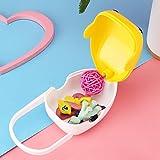 Schnullerbehälter, Schnuller-Aufbewahrungsbox, tragbare Kinder für Babys Kleinkinder Kleinkinder(yellow)