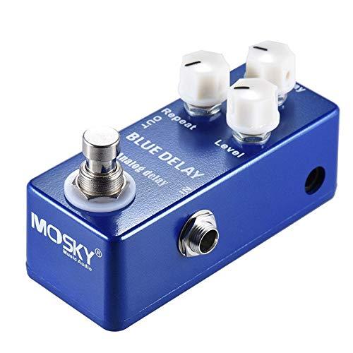 Mini pedal analógico de efecto de guitarra con efecto de derivación verdadero pedal de aleación de zinc y aluminio con interruptor de derivación real.