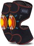 Chauffage électrique genouillères, chauffant Genouillère Wrap Masser thermothérapie for Blessure au genou, Rhumatisme, muscles soulagement de la douleur, 3 modes de massage et 3 température réglable